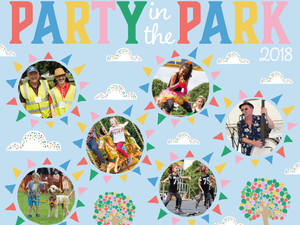 Party in the Park Sunday 1st July from 1 pm