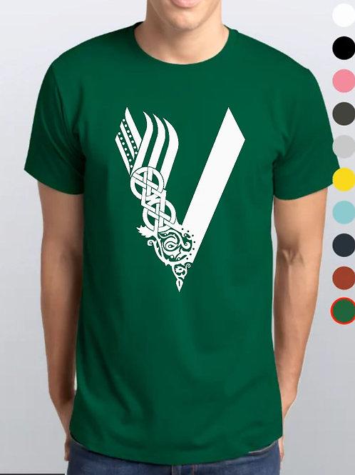 Camiseta Verde Bandeira / Vikings Oficial Netflix / V