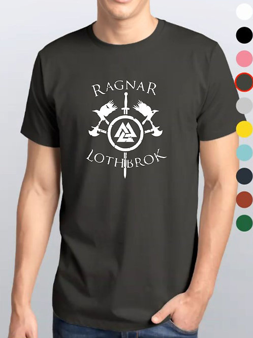 Camiseta Cinza Chumbo / Vikings Oficial Netflix / Ragnar