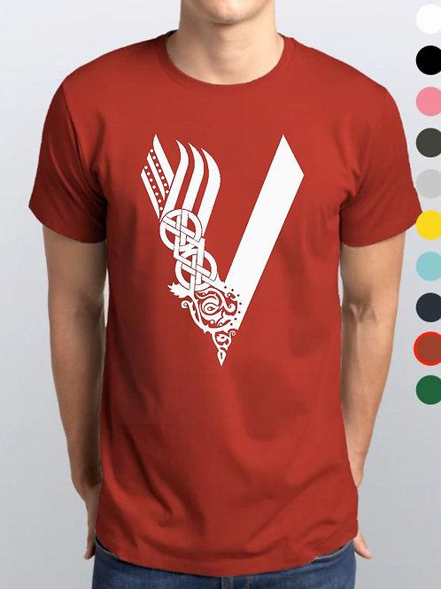 Camiseta Vermelha / Vikings Oficial Netflix / V