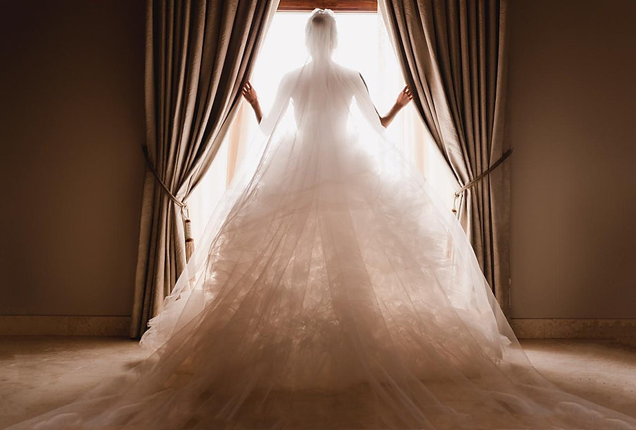 Lady in a wedding dress