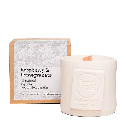 Laouta Raspberry & Pomegranate soy candle