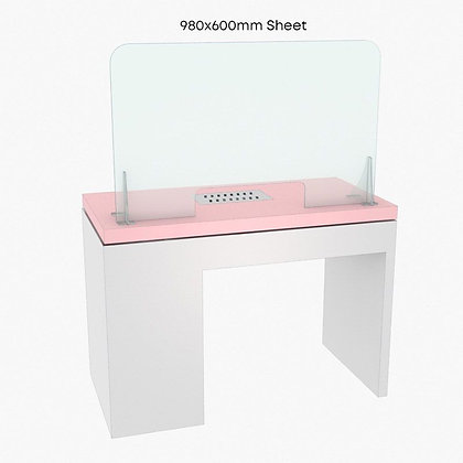 Nail Salon Cough Screen / Sneeze Guard 98cm x 60cm