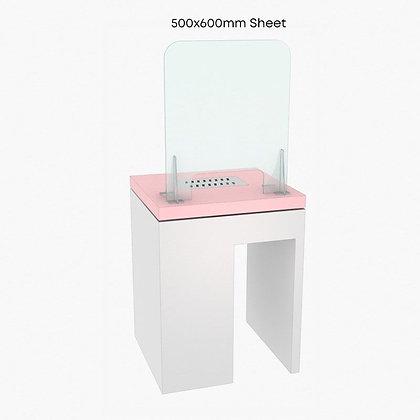 Nail Salon Cough Screen / Sneeze Guard 50cm x 60cm