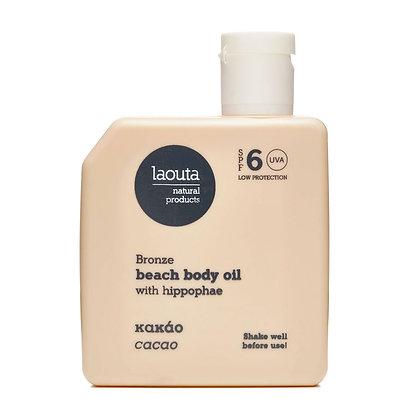 Laouta COCAO BRONZE beach body oil with hippophae