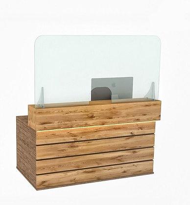 Reception Counter Cough Screen / Sneeze Guard 160cm x 80cm