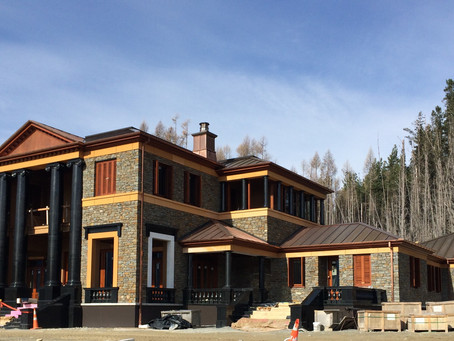 Architectural Residential Property at Ohau...  quality suppliers and layers of schist stone....