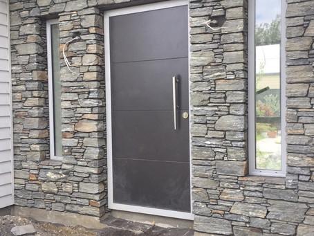 Alexandra Grey Schist Stone Entrance