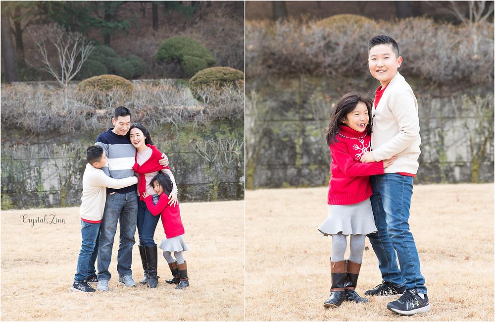 family portraits, nature, outside,