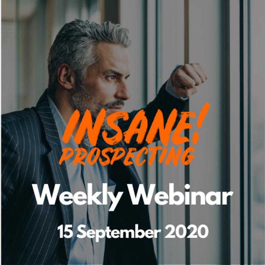 Weekly Prospecting Webinar for Financial Advisors - 15 September 2020
