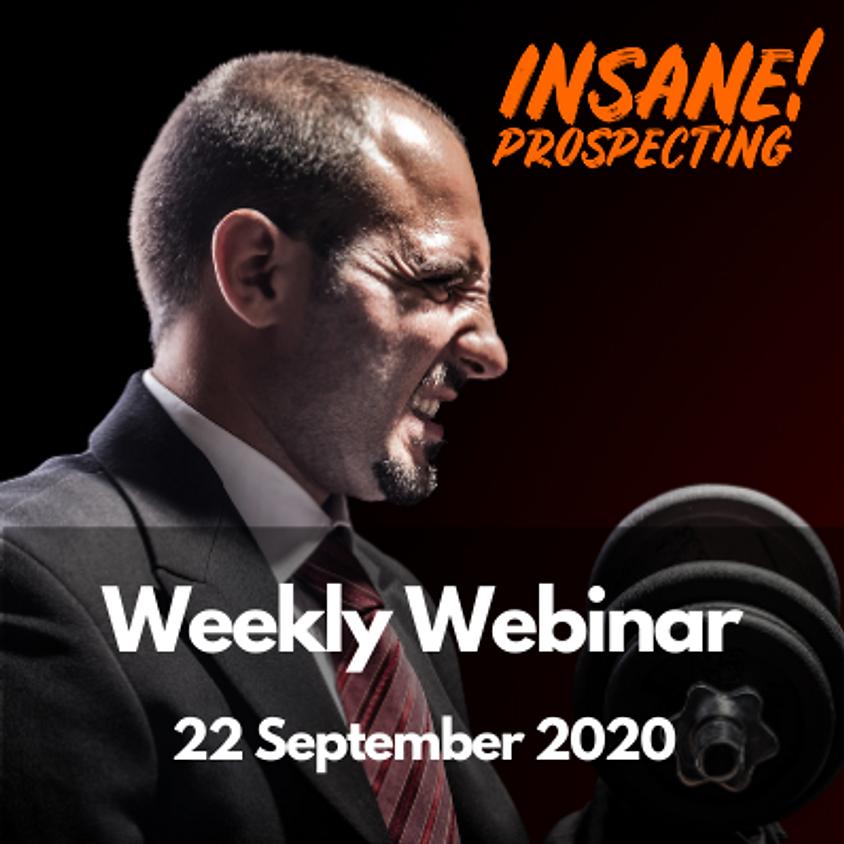 Weekly Prospecting Webinar for Financial Advisors - 22 September 2020