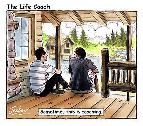 life coaching log cabin men