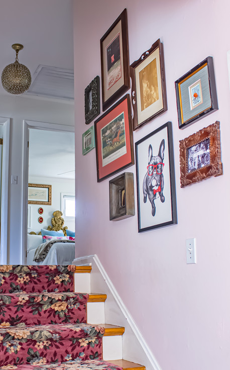 Nichole Loiacono Design, Overland Park, KS, Interior Designer, Hallway, Staircase,