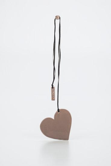 The Heart Pendant - dove grey, medium