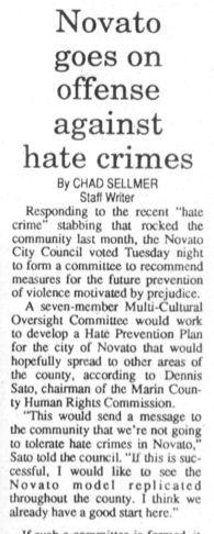 Novato goes on offense against hate.jpg