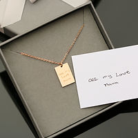 Dazzle Personalised Necklace - Own Handwriting Engraving    £29.99