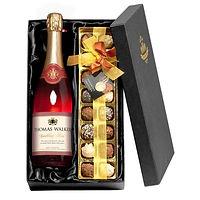 Personalised Sparkling Rosé Wine & Chocolates    £54.99