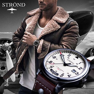 The STROND DC-3 AUTOMATIC Watch in cream is a fashion icon