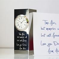 Vintage Standing Clock Handwriting Engraving    £45.99