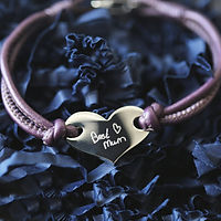 Handwriting Hearts Forever Bracelet Berry    £39.99