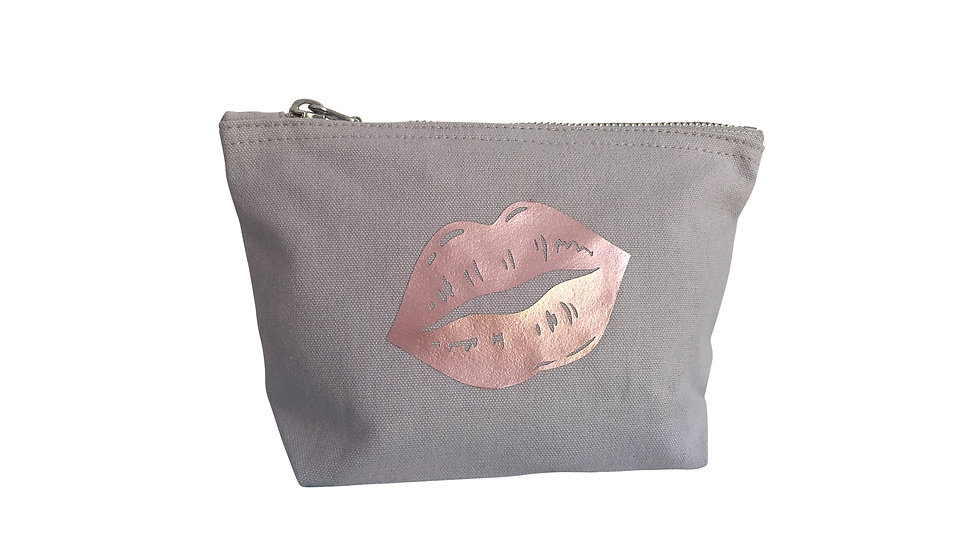 Small Light Grey Beauty Bag