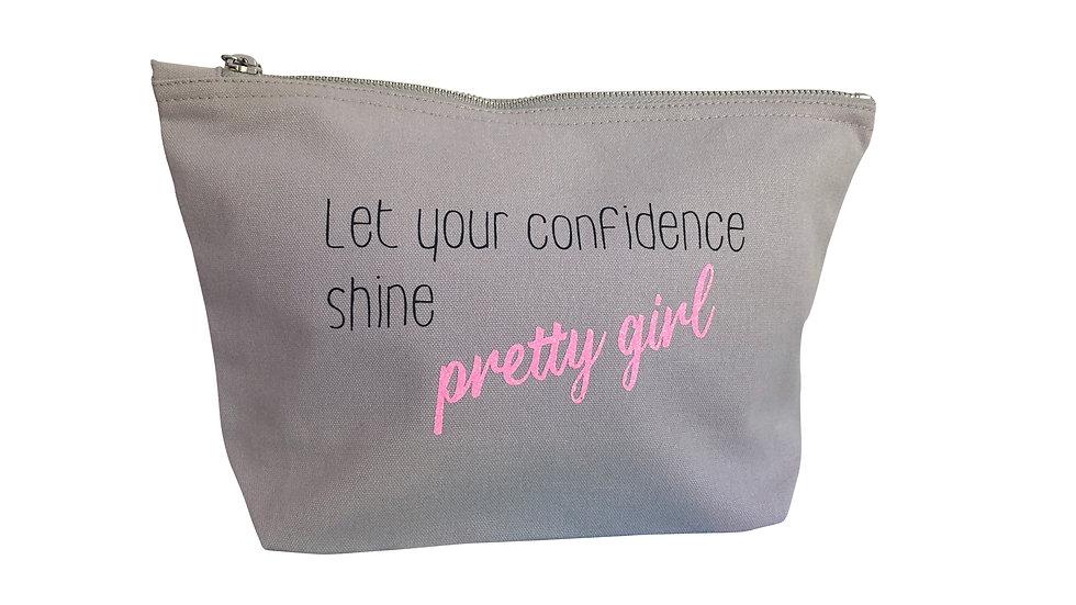 Medium Light Grey Beauty Bag