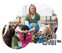 woman teaching kids in classroom