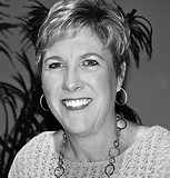 Black and white photo of Beth Gilchrist