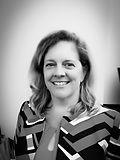 Black and white photo of Melanie Sharpe