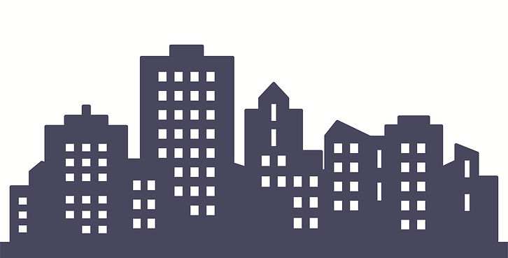 Vector illustration: silhouette of tall buildings