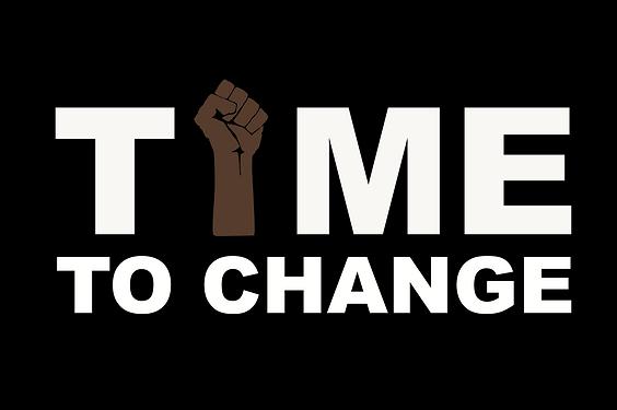 Illustration: fist up, Time to Change