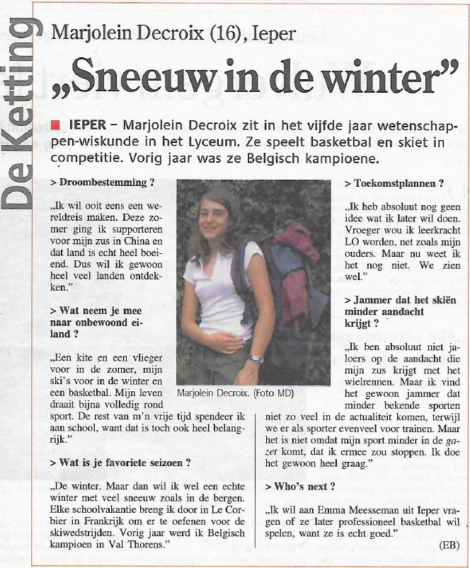Sneeuw in de winter 2008