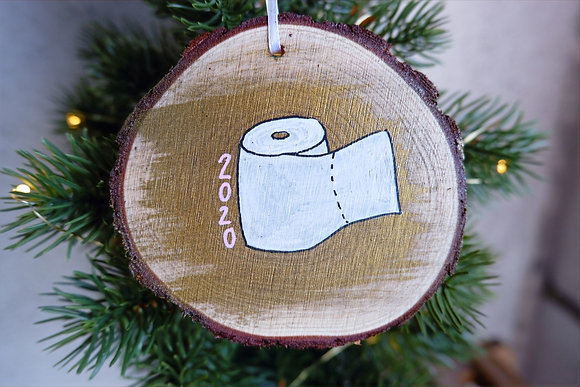 Toilet Paper Ornament - White Roll