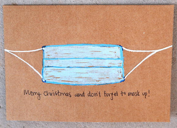 Card: Merry Christmas & Mask Up!