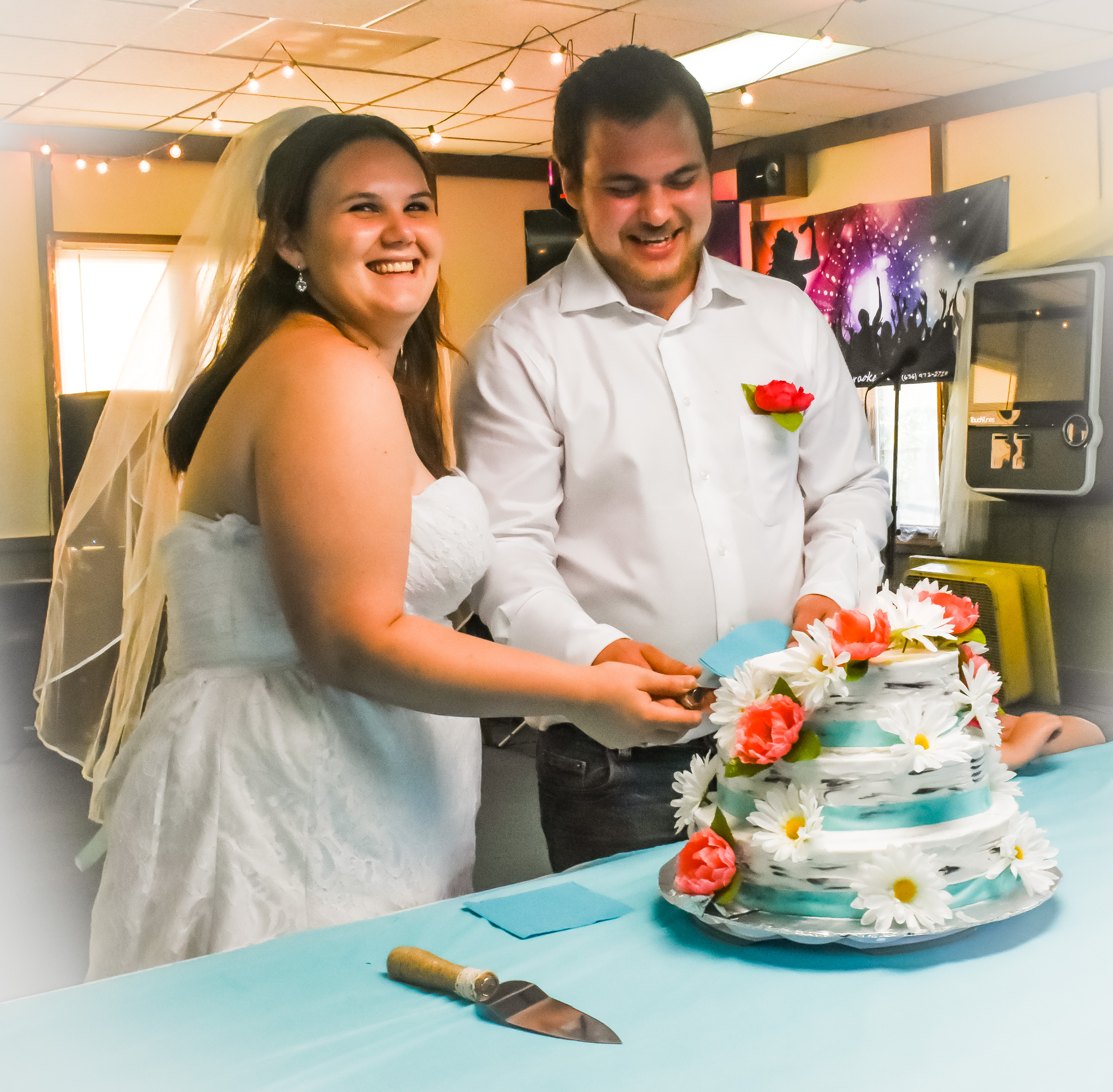 Angelina & Tylor Cutting the Cake