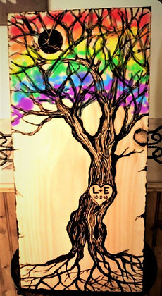 lgbtq couple gift,  Wood anniversary gift, anniversary gift, Rainbow, couples