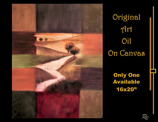 Original, landscape art, Oil on canvas, one of a kind