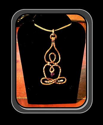 copper, lotus pose, necklace, yoga, jewelry, lotus pose necklace, jade
