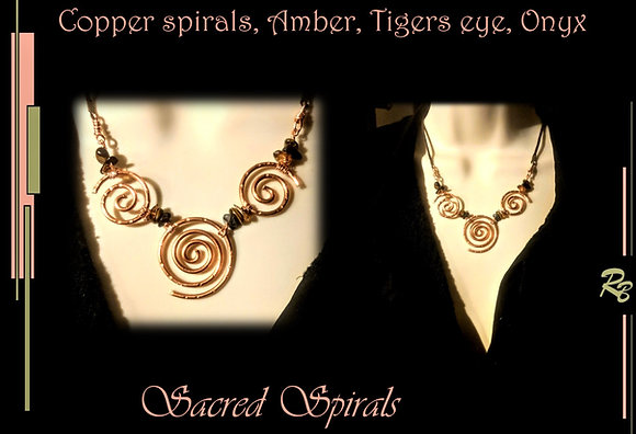 Zen, Necklace,Sacred spiral, fashion jewelry, wife , mother ,gift, Daughter