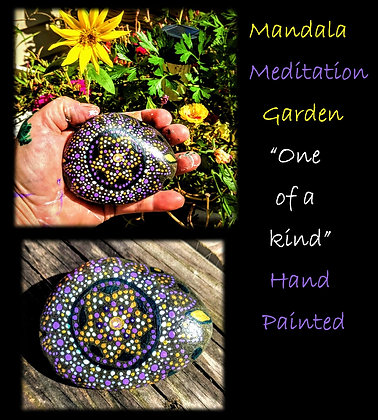 Mandala, Rock, hand painted, One of a kind, Only ONE Available