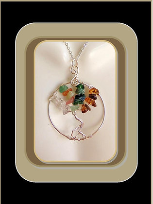 four seasons,tree, necklace, winter, spring, summer,fall
