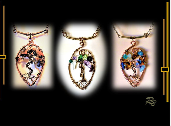 Family Birthstone tree, necklace, gemstone necklace,family birthstne ge
