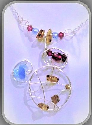 June,Disney lover, birthstones, Disney,necklace,wife gift,mother gift,daughte
