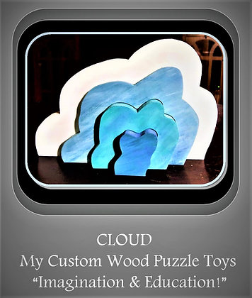 cloud puzzle, wood puzzle, child gift, girl gift, boy gift, kid gift, learn