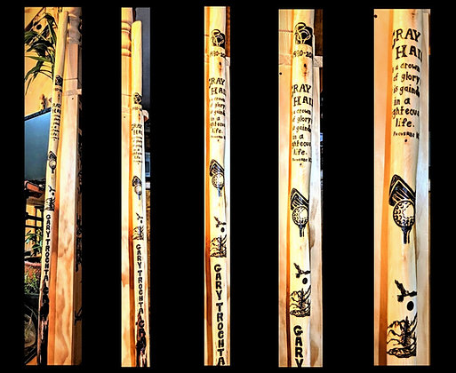 hiking sticks. retiement gift, wood ,custom, personalized, any image, any words