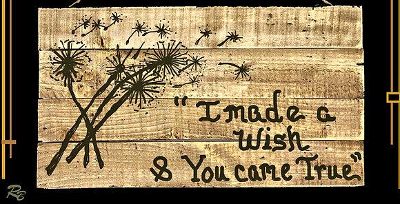 Dandelion, Art,  anniversary gift, five year anniversary gift, wife, gift, hu