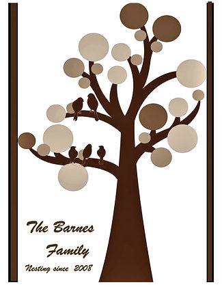 Family Tree, 8x10 print,personalized, mother gift, wife gift,family gift