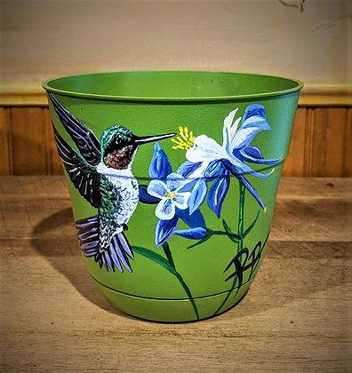 flower pot,hummingbird lovers gift ideas,hummingbird,bird lovers, wife git, moth