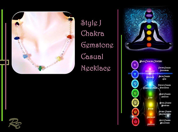 Casual, chakra, necklace,  wife gift, chakra jewelry, chakra necklace, chakras