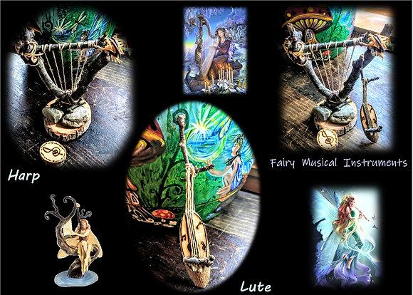kid garden, harp,lute, fire pit,fairy furniture,fairy item,fairy garden kit,